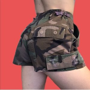 Purple overdue Furst of a Kind camo vintage shorts